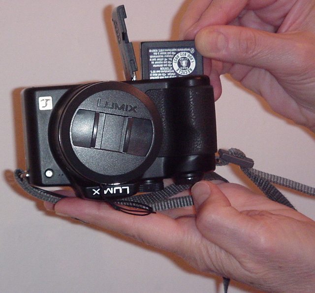 Panasonic Lumix battery compartment